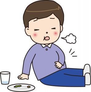食べ過ぎてお腹が苦しい~!!っ...